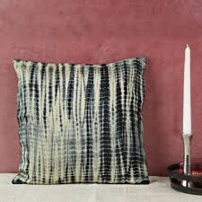 Throw Pillow Covers Online India Black Silk Tie U0026 Dye Cushion Cover Cushion Covers U0026 Throws Buy
