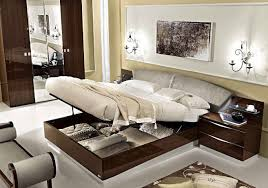 Modern Italian Bedroom Furniture Odelia Walnut Modern Italian Bedroom Set N Star Modern Furniture