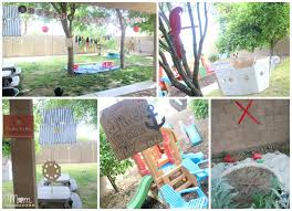 outdoor diy pirate party decor pirata pinterest never