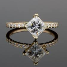 deco engagement ring 1 2 ct solitaire princess white diamond deco engagement ring