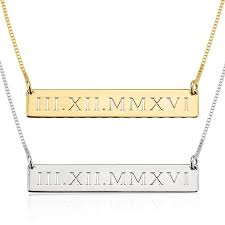 roamn numeral numeral necklace