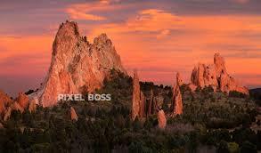 Garden Of Rocks by Garden Of The Gods Gray Rock Sunset Pastel Pixel Boss Ultra