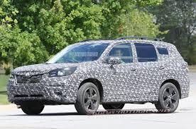 subaru minivan spied 2019 subaru forester caught testing motor trend canada