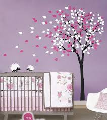 Tree Nursery Wall Decal 2 Hedgehog Blowing Tree Nursery Baby Wall Decals Vinyl