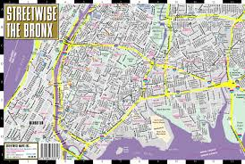 Map Of New York Subway With Streets by Streetwise The Bronx Map Laminated City Center Street Map Of The
