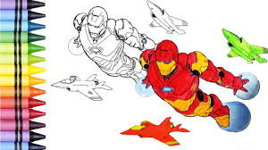 ironman coloring book kids art colors kids learn