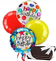 send birthday balloons in a box birthday balloon bouquets by gifttree