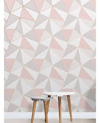 pink and grey pattern wallpaper apex geometric wallpaper rose gold fine decor fd41993 free uk