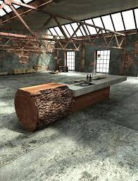 ilot cuisine bois massif cuisines ilot cuisine beton bois massif design willi bruckbauer