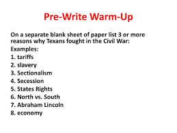 ppt pre write warm up powerpoint presentation id 2094061