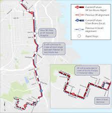 San Francisco Terminal Map by 9r San Bruno Rapid Service Expansion Sfmta