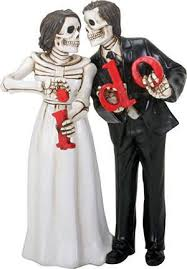 skeleton wedding cake topper wedding cake toppers never dies and groom i