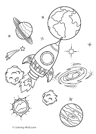 free printable space coloring pages eson me