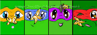 tmnt butterflies on faces sketch guru androidphone by winged wolf