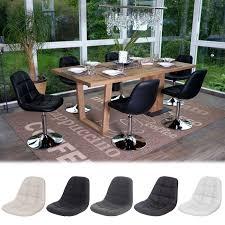 Esszimmerstuhl Drehbar 6x Esszimmerstuhl Hwc A60 Drehstuhl Stuhl Chrom Ebay