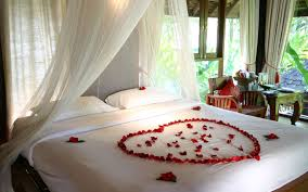 stunning romantic bedroom decorations for honeymoon with white