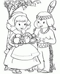 free printable thanksgiving coloring pages for kids with color