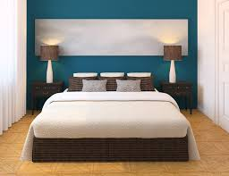 White And Dark Blue Bedroom Paint U0026 Colors Interesting Decorating Blue Wall Paint Design Ideas