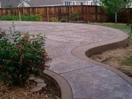 Textured Concrete Patio by Stamped Concrete Denver