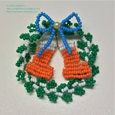 How To Make Christmas Ornaments Out Of Beads - 155 best perle de rocaille images on pinterest brick stitch
