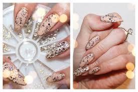 glamorous border nail art with swarovski crystals youtube