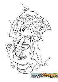 precious moments animals coloring pages rain