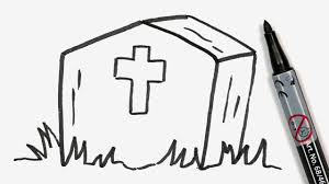 Easy To Draw Halloween Pictures by How To Draw A Cartoon Halloween Tombstone Easy Doodle For Kids