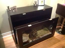 custom console table with a built in rabbit cage animal stuff