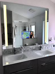 bathroom bathroom mirror tv for hotels lighted mirrors reviews