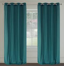 Peacock Curtains Maestro Linen Look Grommet Curtain Panels Set Of 2