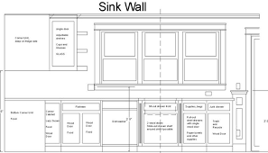Kitchen Cabinet Dimensions Standard Drawing Exitallergycom - Standard cabinet depth kitchen