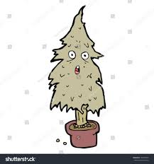 dead christmas tree cartoon stock vector 104478326 shutterstock