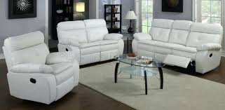 Recliner Sofa On Sale Marvelous White Leather Recliner Sofa Set For House Design
