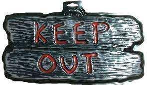 keep out halloween sign u2013 fun for halloween