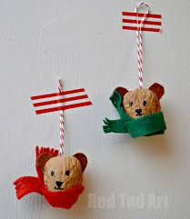 walnut ornaments winter bears ted s