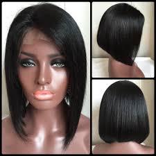 black bob hairstyles 1990 2018 medium straight side parting lace front real natural hair bob