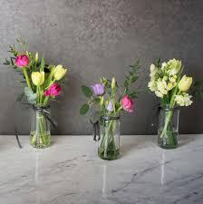 jar flowers easter jam jar flower trio tregothnan floristry