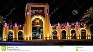entrance to universal studios orlando fl editorial stock image