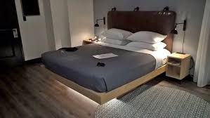 Ground Bed Frame Floating Bed That Lights Up When You Put Your On The Ground