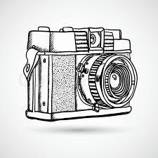 vector illustration of free hand sketch camera stock vector