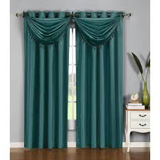 window elements semi opaque jane faux silk 84 in l grommet