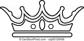 clipart vector princess crown icon outline style