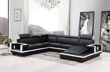 Modern White Bonded Leather Sectional Sofa Divani Casa 6122c Modern White And Black Bonded Leather Sectional