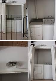Laundry Room Closet by Laundry Closet Makeover Emily Henderson