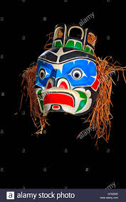 mask native first nation art original west coast stock photo