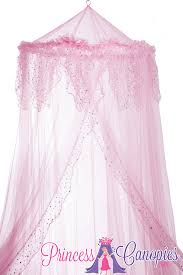 Pink Canopy Bed Mosquito Net Canopy Ruffle Top Pink Holographic Dots Detail Pink