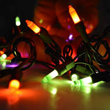 spider u0026 pumpkin halloween garland 50 orange lights 9 ft plug in