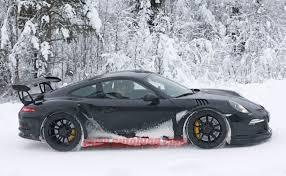 porsche 911 winter porsche 911 gt3 rs spied in winter testing slashgear