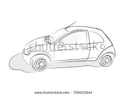 hand drawn vector sketch retro car téléchargez de l u0027art des
