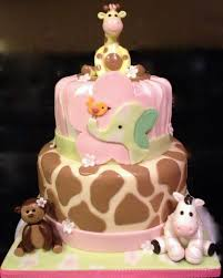 Decorating The Nursery by Jungle Jill Themed Cake Baby Shower Cake Decorated In Fondant To